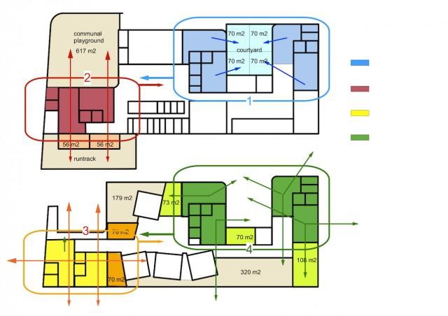 diagram different classrooms 2 no text