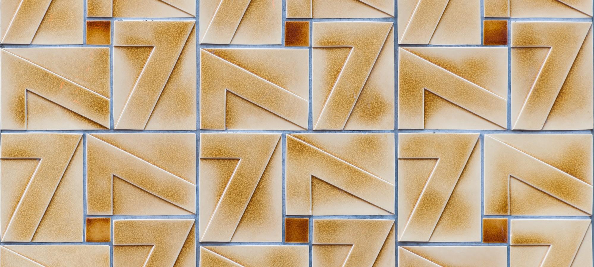 Geveltableau keramische tegels (Koninklijke Tichelaar Makkum)