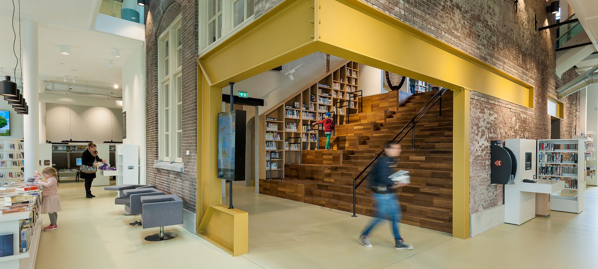 School 7,  bibliotheek, Den Helder