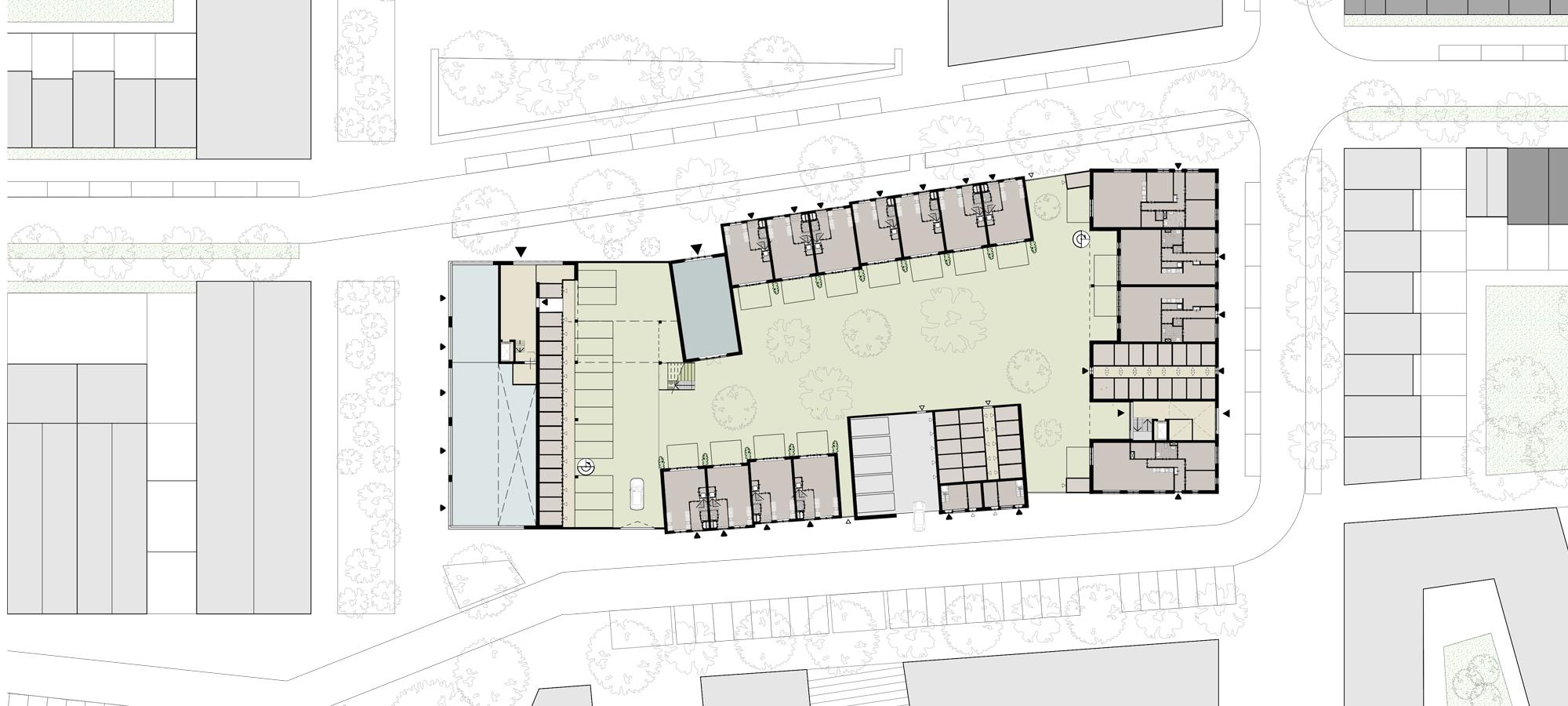 Hof van Zutphen senioren appartementen, woningen en een gemeenschapshuis